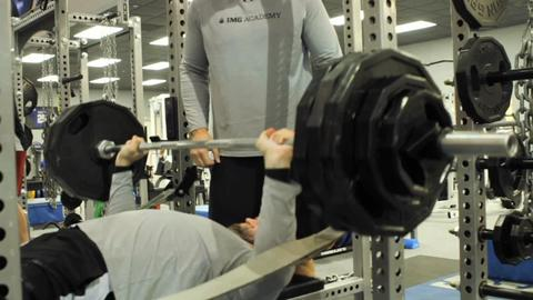 Margus Hunt Benches 385 Pounds for Five Reps